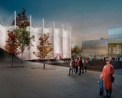 «Garage Screen»: летний кинотеатр примет форму вывернутого наизнанку павильона