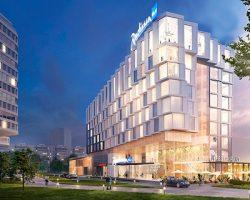 Гостиницу с геометрическими фасадами возведут на Ленинском проспекте