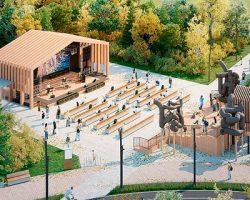 Столица показала сервисный проект благоустройства набережной Чермянки