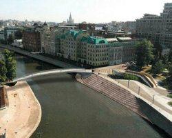 Пешеходный мост через Москву-реку появится на Якиманке