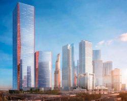 Внутри ТПУ «Сити» появится небоскреб с красными полосами